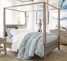 Shop Pottery Barn for expertly crafted farmhouse bedroom furniture. Browse our Farmhouse Jacquard Bedroom and find farmhouse beds, nightstands bedding and more. Coastal Master Bedroom, Coastal Bedrooms, Luxurious Bedrooms, Modern Bedroom, Contemporary Bedroom, Neutral Bedrooms, White Bedrooms, Contemporary Kitchens, Modern Sofa