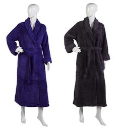 Ladies Luxury Textured Soft Fleece Dressing Gown S-XL (Various Colours). These  luxurious ladies soft coral fleece wrap around dressing gowns by Slenderella  ... 9f650367c