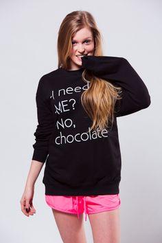 Chocolate sweatshirt  www.magicboxclothes.pl