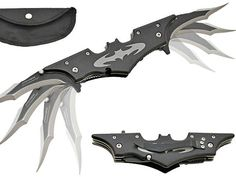 #7 Batarang Style Pocket Knife. These Batman Batarang style pocket knives have twin blades that pop out and they are great collectibles for fans of the Batman as well as pretty cool pocket knives. #Top10 GetdatGadget.com/getdatgadget-top-10-gadgets-june-2014/
