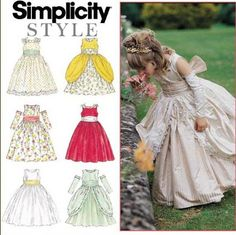 Simplicity 8953  Girl's Princess Cinderella by SLochetDesigns