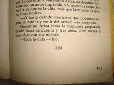 El amor en los tiempos del cólera...toda la vida...Gabriel GArcia Marquez