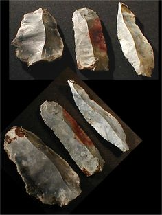 "Set of Three Neolithic Age Stone Artifacts were found just off the shore of the island of Funen, Denmark. This was the site of an ancient stone age settlement called ""Mejloe"", which is now covered by the Baltic sea.  The settlement dates to the Ertebölle Culture: 5,400 to 3,900 B.C."