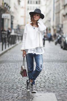 J'ai oublié de répondre à un commentaire qui me demandait pourquoi je ne portais quasiment plus de jean slim.Nouveau billet !