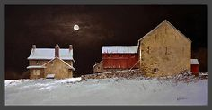 Ray Hendershot   Late Snow  Wonderful light and color