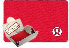 Lululemon Gift Card Gift Certificate