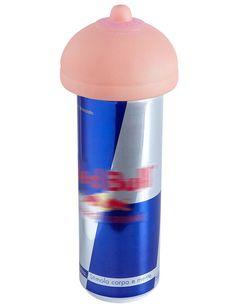 Fröhlich-frivoler Schutzdeckel für den Energy-Drink!