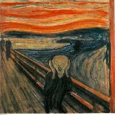 Simon Lorenzo Thijs mn goonie. Edvard Munch. De Schreeuw, het laat het geestelijke leed en de emoties zien die de schilder in een periode heeft meegemaakt. oke oke oke oke doei