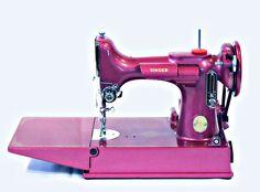 Singer 221 Featherweight Sewing Machine - Raspberry Pink 1949