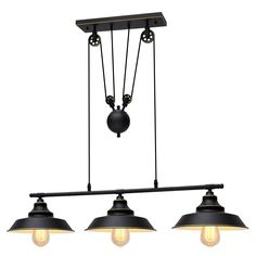 20 Diam Matte Black and Brass Finish 3 Arms Mid Century Foyer Dining Room Industrial Semi Flush Lights Rustic Wood WILDSOUL 10013BK 3-Light Farmhouse Clear Seeded Dome Glass Shaded Chandelier