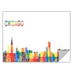 ArtWall Revolver Ocelot 'Chicago' Removable Wall Art Graphic
