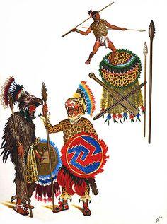 """""""Guerriers aztèques: Chevaliers Jaguar et Aigle"""", Jean Torton (Jeronaton)"""