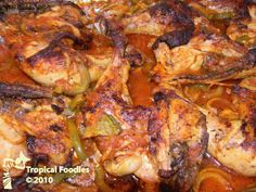 Haitian recipe: Chicken in sauce
