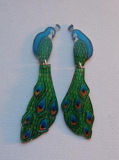 buy popular bd599 8f1c0 Phenton earrings peacock.
