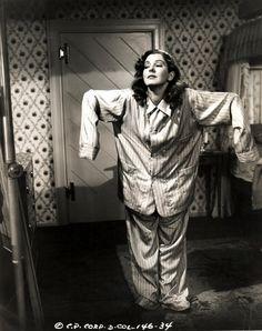 "Jean Arthur (in cute Pajamas) in ""Talk of the Town (1942)"