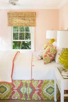 Beach Inspired Bedroom, Beach House Bedroom, Modern Decor, Modern Design, Houston, Yellow Bedding, Mustard Bedding, Interior Design Portfolios, Coastal Bedrooms