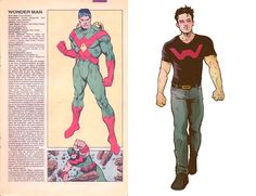 How cute and dreamdate-y is this Wonder Man by Stefan Tosheff.  PS...I just found this awesome blog called Marvel Universe REDUX that I have fallen in love with.  What they do is what you see here...the old profile from the MU and an awesome update by even awesomer talent.
