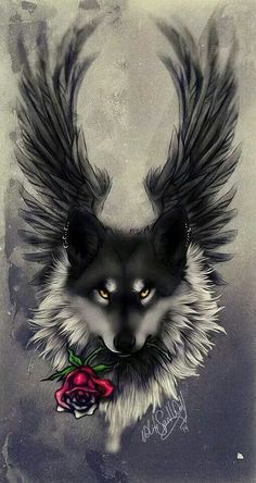 44 Ideas tattoo wolf ideas spirit animal black wolves for 2019 Wolf Tattoo Design, Anime Wolf, Wolf Tattoos, Fantasy Kunst, Fantasy Art, Wolf Artwork, Fantasy Wolf, Wolf Wallpaper, Cool Wallpapers Wolf
