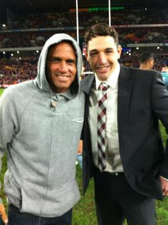 When 'Slater' met 'Slater'. Taken by Billy at State of Origin on wednesday...then Kelly slater asked for a photo with him!!