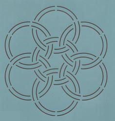 "Oriental Knot-2 7"" - The Stencil Company"
