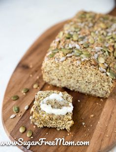 This Incredible Gluten Free & Low-Carb Flax Meal Bread is an easy and tasty quick bread for any meal! Keto Foods, Ketogenic Recipes, Gluten Free Recipes, Low Carb Recipes, Bread Recipes, Cooking Recipes, Ketogenic Diet, Healthy Recipes, Lowest Carb Bread Recipe