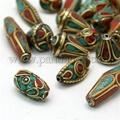 Handmade Tibetan Style Beads TIBEB-G001-M2-1