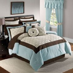 comforter sets blue and brown | Cheap Blue And Brown Comforter Sets