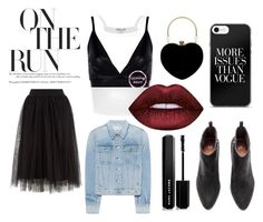 """""""Back In Black On The Run"""" by chrisfania-putri on Polyvore featuring Boohoo, rag & bone and Marc Jacobs"""