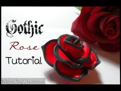 ▶ Gothic Rose tutorial by MissClayCreations - YouTube
