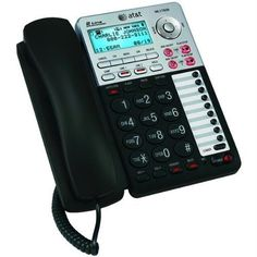 AT 17939 Corded Phone, Black/Silver, 1 Handset by AT $55.98. From the Manufacturer                 Corded 2-Line Speakerphone with Answering Machine and Caller ID/Call Waiting       Two lines, plus Caller ID/Call Waiting and a digital answering system. View larger.        Easy-to-read numbers, volume control, mute, display dial, and more. View larger.     A practical solution for every home office, the AT ML17939 corded speakerphone supports up to two lines and...