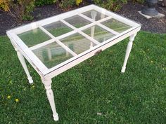 repurposed window, repurposing upcycling, A window table for my family room Repurposed Items, Repurposed Furniture, Cool Furniture, Furniture Ideas, Repurposed Shutters, Furniture Design, Vintage Windows, Old Windows, Antique Windows