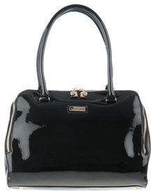 Pierre Carding Black Patent Handbag