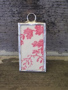 Soldered Glass Toile Charm