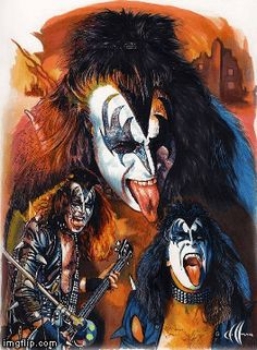 Gene Simmons - Art done by Chris Hoffman Kiss Band, Kiss Rock Bands, Paul Stanley, Kiss Group, Kiss World, Gene Simmons Kiss, Kiss Members, Rock Band Posters, El Rock And Roll