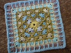Ravelry: Project Gallery for KISS-FIST pattern by Shelby Shea - unusual crochet square in beautiful colours!