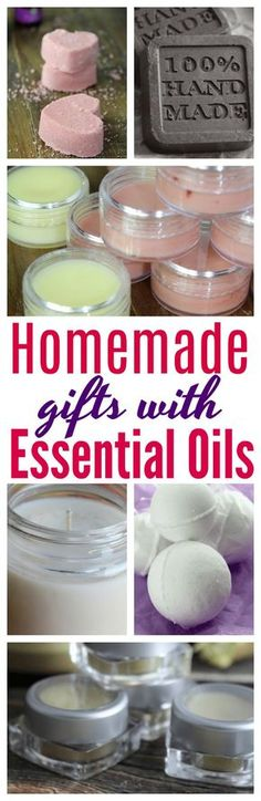 Gift giving to family and friends? Here are 10 homemade Items you can give that are made with essential oils! #DIY   #EssentialOils   #Gifts