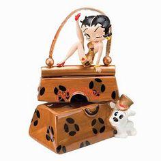 Betty Boop Leopard Purse Salt and Pepper Shaker Set