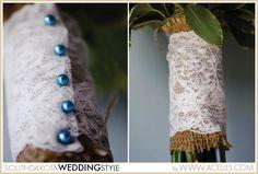 Wedding Bouquet Handle Idea