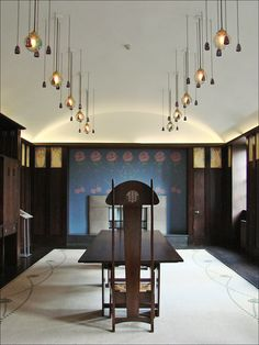 Dining Room, House for an art lover, Charles Rennie Mackintosh.