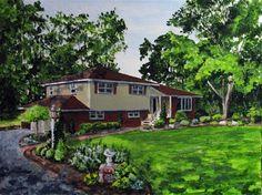 "Daily Paintworks - ""Parklike Setting"" - Original Fine Art for Sale - © Nan Johnson"