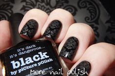 Picture Polish Damask stamping with matte polish