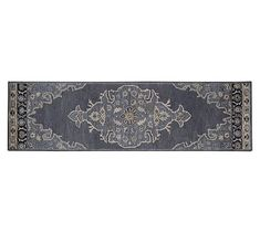 Bryson Persian Style Tufted Wool Rug 2 5 X 9 Navy