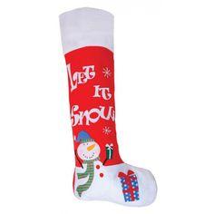 Rode mega kerstsok Sneeuwpop 100 cm. Mega kerstsok van maar liefst 100 cm groot…