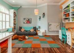 Kids Bedroom And Playroom multipurpose playroom and guest bedroom | nod: kids shared spaces