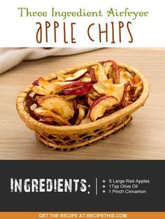Airfryer Recipes | Three Ingredient Airfryer Apple Chips