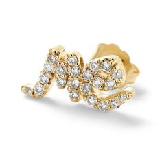 "Alison Lou ""Single 'ME' Stud Earring"" - http://lcknyc.com/1rmCXu9"