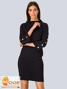 #BAUR #AlbaModa #Rabatt #25 #Marke #Alba #Moda #Material #Elasthan #Polyester #Viskose #Onlineshop #BAUR #Damen #Bekleidung #Damenmode #Kleider #Sale #Shirtkleider | sportliche Outfits, Sport Outfit | #mode #modeonlinemarkt #mode_online #girlsfashion #womensfashion Alba Moda, Sport Outfit, Mode Online, High Neck Dress, Dresses For Work, Coat, Jackets, Black, Material