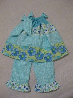 """Pillowcase tunic and ruffle pants....now at """"The Baby Has Style"""" on Etsy!"""