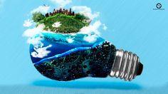 #FotoMontagem #Photoshop #Imagem #Mar #Planeta #Lampada