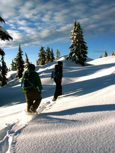 """Snowshoeing at Mt. Seymour, BC"" #explorebc"